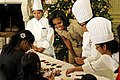 Michelle Obama hosted military families and their children at the White House, 2012.jpg