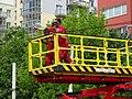 Michle, U plynárny, rekonstrukce TT, práce na vrchním vedení (02).jpg