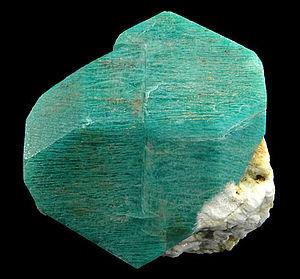 Konso special woreda - Amazonite mineral specimen from Konso. Size: 4.6 x 4.5 x 4.3 cm.