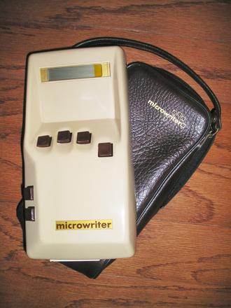 Chorded keyboard - A Microwriter MW4 (circa 1980)