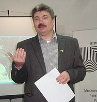 Mihas Skobla - lecture about Ryhor Baradulin - Minsk 28-03-2014 AD b.JPG