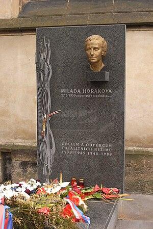 Milada Horáková - Memorial to Milada Horáková.