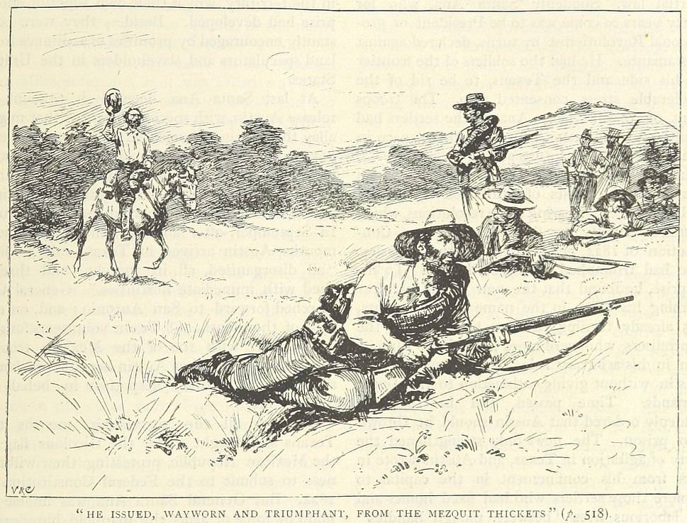 Milam meets Texan troops