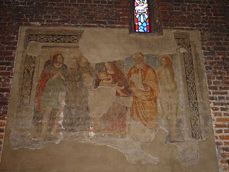 San Cristoforo sul Naviglio - Fresco in the wall of the older church