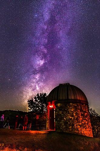 Bays Mountain Park - Planetarium at night, October 2016