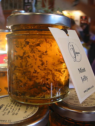 Mentha - A jar of mint jelly: Mint jelly is a traditional condiment served with lamb dishes.