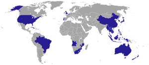 Foreign relations of East Timor - Countries with East Timorese diplomatic missions