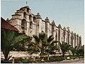 Mission San Gabriel Arcángel, circa 1897 (photochrome).jpg