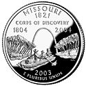 Missouri quarter, reverse side, 2003