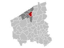 Vị trí của Oudenburg in West Flanders