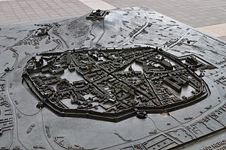 Model of Brno from 1645 year