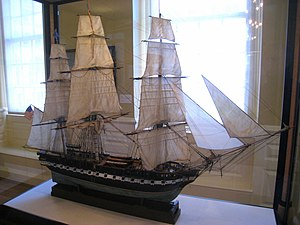 Model of the USS Constitution, c. 1910 - Old S...