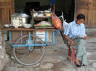 Mohinga - Image: Mohinga stall, Mandalay, Myanmar