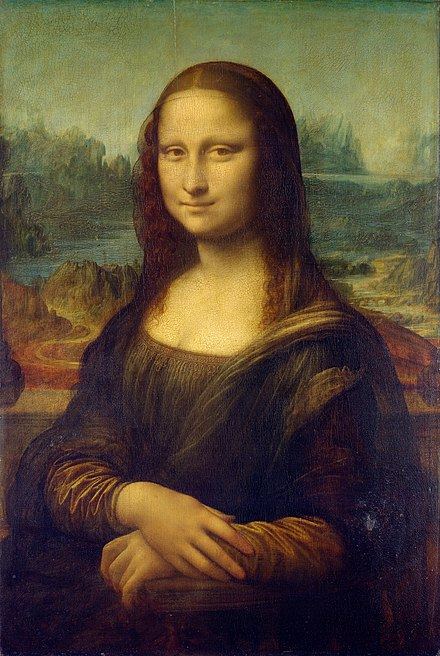 In painting, the Mona Lisa by Leonardo da Vinci, c. 1503-1506, is the archetypal masterpiece, though it was not produced for admission to a guild or academy. Mona Lisa, by Leonardo da Vinci, from C2RMF retouched.jpg