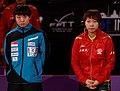 Mondial Ping -Women's Singles - Quarterfinal - Zhu Yuling-Feng Tianwei - 02.jpg