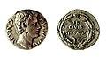 Moneda de Augusto hallado en el yacimiento de Juliobriga. denario Augusto 19.jpg
