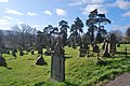 Monmouth Cemetery - Looking towards the Town from near the top.JPG