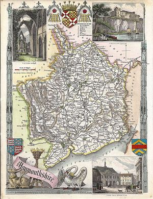 Thomas Moule - Moule's map of the hundreds of Monmouthshire, c. 1831