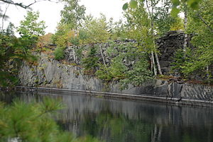 Monson, Maine - Flooded slate quarry at Monson