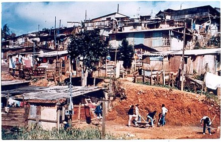 Renovation through community work of the residents. Monte Azul 1962.jpg