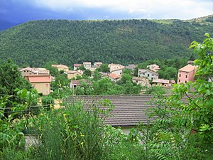 Sassoferrato - View of Montelago, a frazione of Sassoferrato