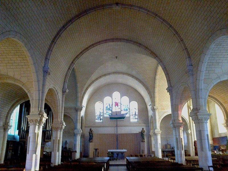 Morbihan Saint-Pierre-Quiberon Eglise Nef 13012014