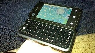 Motorola Backflip - Image: Motorola Backflip open