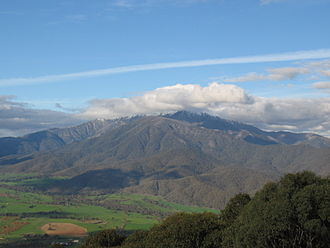 Mount Bogong - Mount Bogong from Tawonga Gap lookout