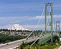 Mount Rainier at the Tacoma Narrows Bridge (18402622459).jpg