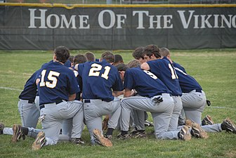 Mount Tabor baseball team prayer.jpg