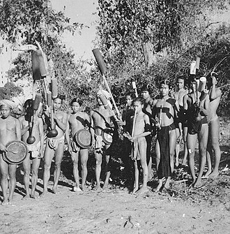 Bandarban District - Tribal Mro people holding traditional pipes in their hands, Bandarban (1950)