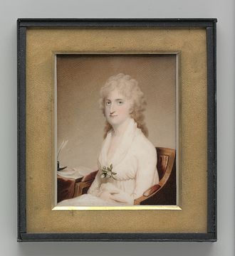 Richard Peters (reporter) - Peter's wife, Abigail Willing, painted by Archibald Robertson (ca. 1803)