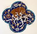 Museo gayer anderson, mattonella islamica con leone che azzanna bovino.JPG