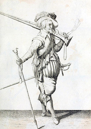 Battle of Santo Domingo (1586) - An English musketeer at the time of the assault