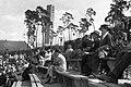 Németország, Berlin, Waldbühne lelátói az 1936. évi nyári olimpiai játékok alatt, háttérben a Harangtorony. Fortepan 16318.jpg