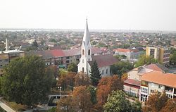 Nădlac - view from evangelical church.jpg
