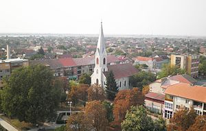Nădlac - Image: Nădlac view from evangelical church