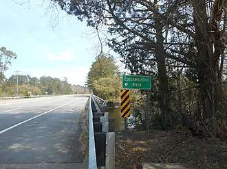 Coosawhatchie River - The former US 17 bridge over the river in Coosawhatchie, South Carolina, now a frontage road for Interstate 95.