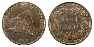 A one-cent piece struck by the Mint of the United States
