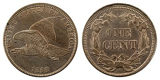 Flying Eagle cent - Image: NNC US 1858 1C Flying Eagle Cent