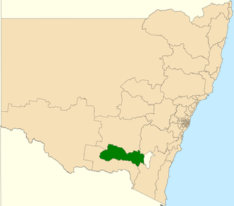 Electoral district of Wagga Wagga - Location in New South Wales