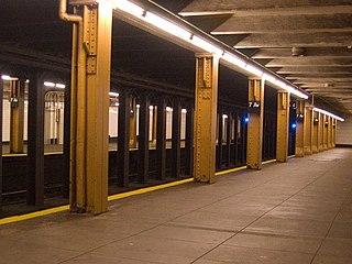 Seventh Avenue station (BMT Brighton Line) New York City Subway station in Brooklyn