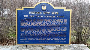 Canvass White - NYS Historic Marker at Old Erie Canal State Historic Park, Manlius Center, Onondaga County, New York