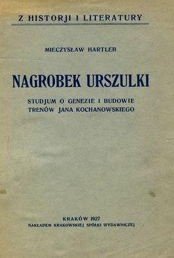 Nagrobek Urszulkicałość Wikiźródła Wolna Biblioteka
