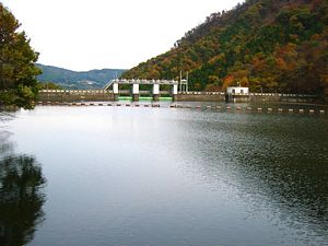 Nakagi Dam and lake.jpg