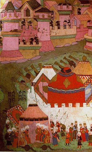 Nakkaş Osman - The Siege of Vienna as illustrated by Nakkaş Osman.