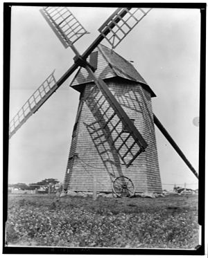 Nantucket Historic District - The Old Mill in 1935