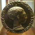 National gallery in washington d.c., pisanello, medaglia di leonello d'este 1441-1443 recto.JPG