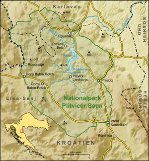 Nationalpark Plitvicer Seen Karte