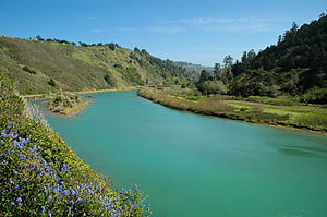 Navarro River - The Navarro River near its mouth.